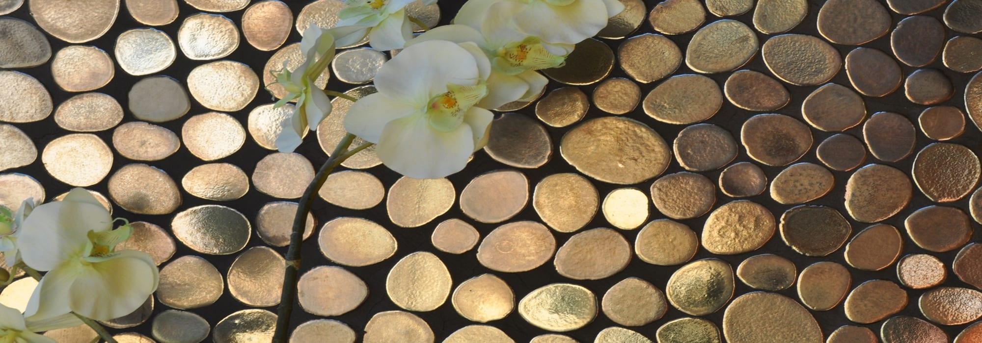 פסיפס קרמיקה בועות ברונזטו by Milstone