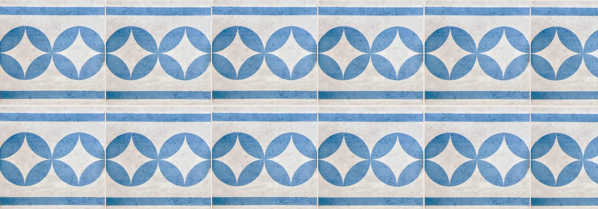 אריח קרמיקה נווה צדק כחול 20*20 by Milstone