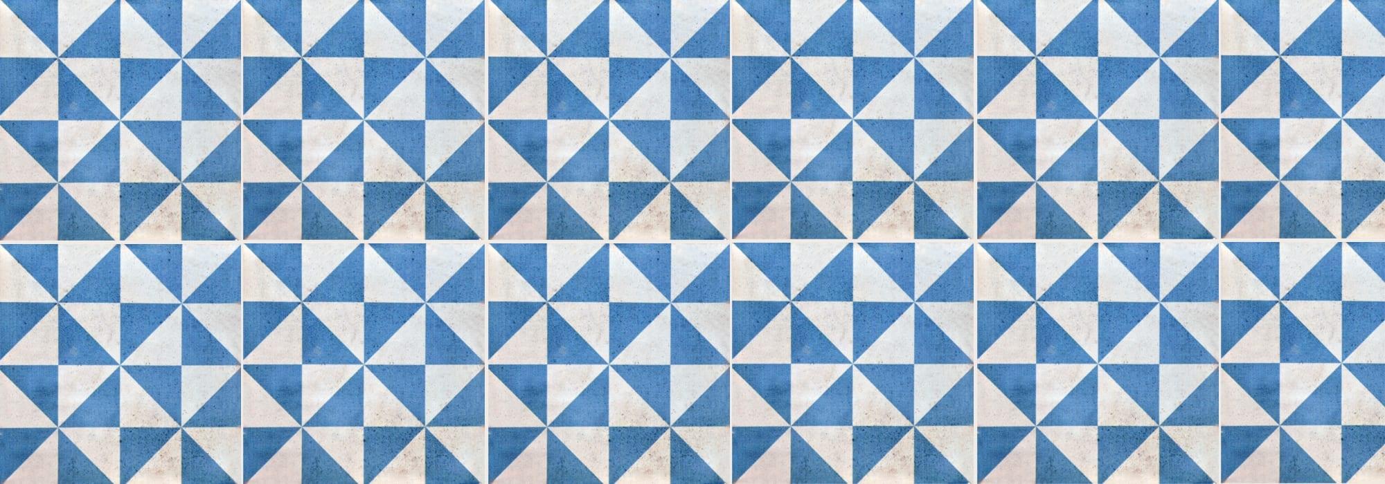 אריח קרמיקה שלוש כחול 20*20 by Milstone