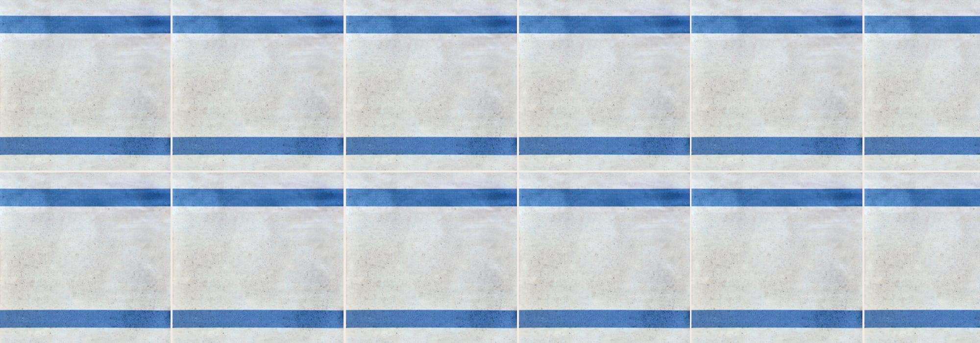 אריח קרמיקה מקווה ישראל כחול 20*20 by Milstone