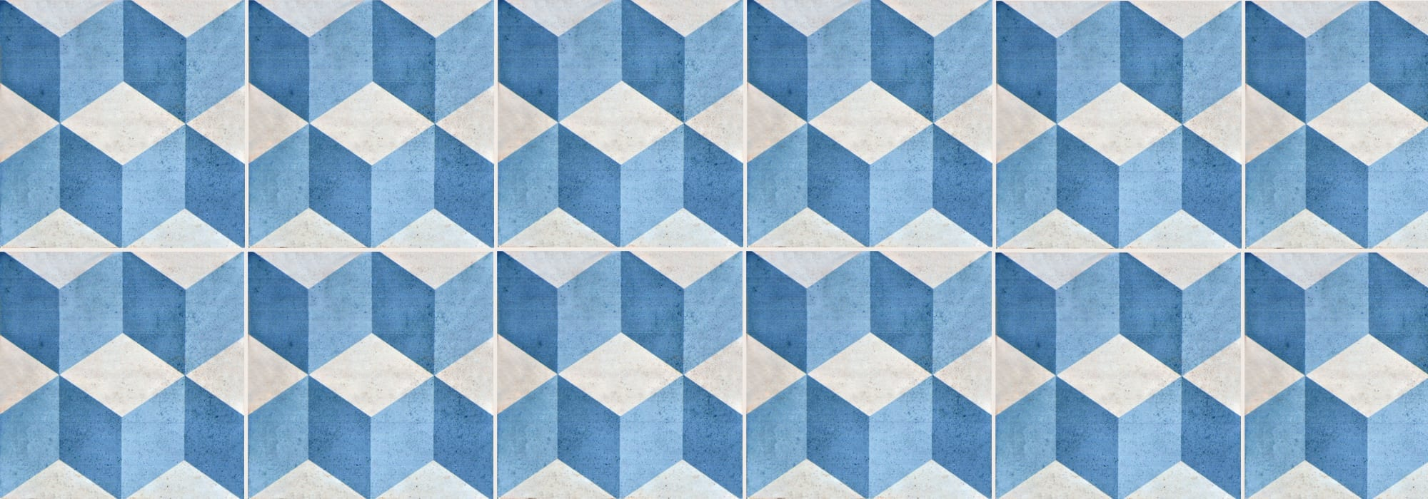 אריח קרמיקה שבזי כחול 20*20 by Milstone