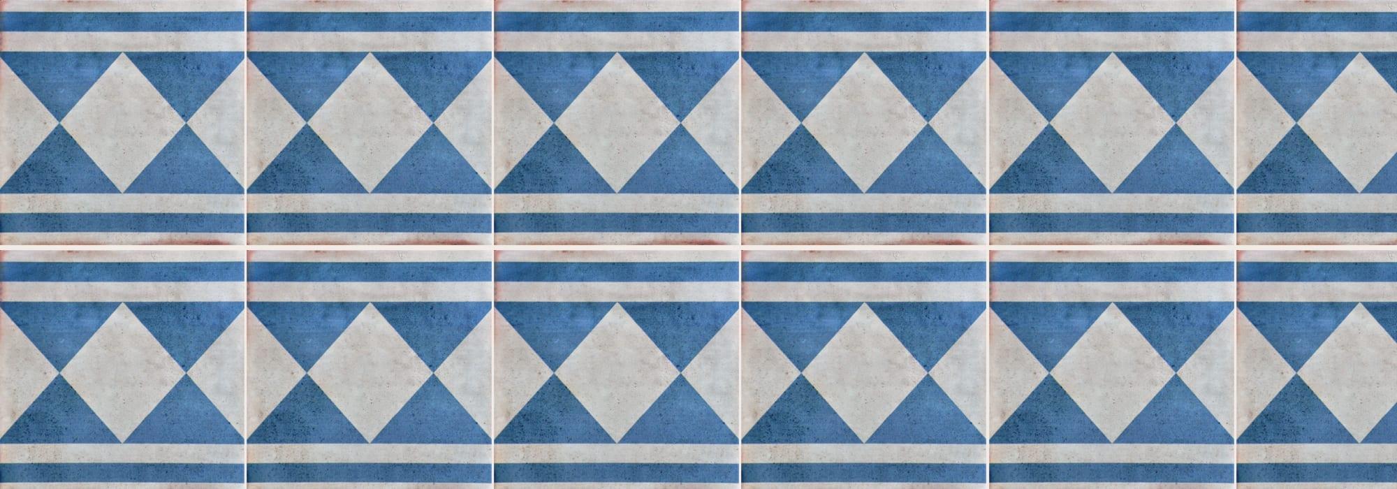 אריח קרמיקה יפו כחול 20*20 by Milstone