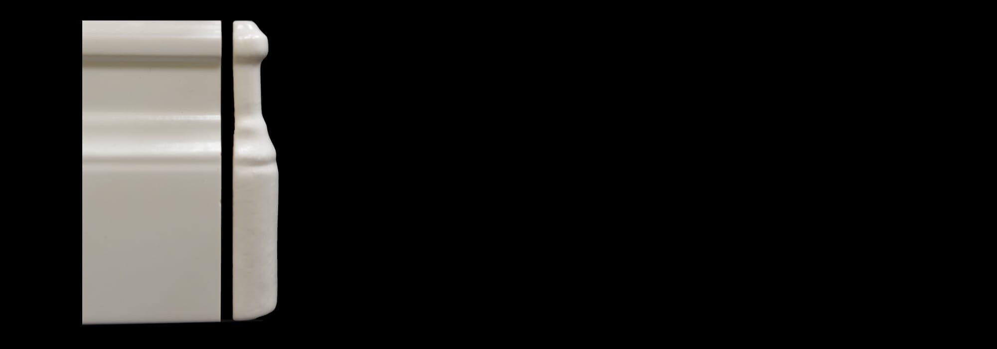 פינה לפנל קרמיקה לבן מט (דגם 1) by Milstone