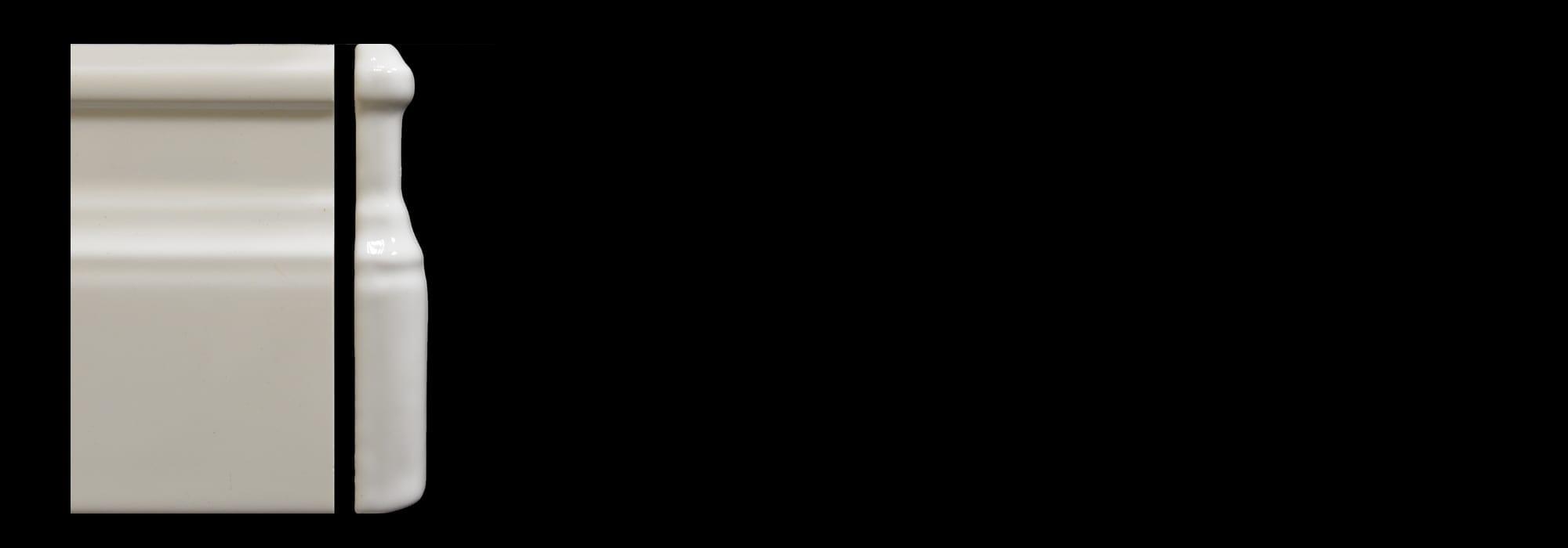 פינה לפנל קרמיקה לבן מבריק (דגם 1) by Milstone