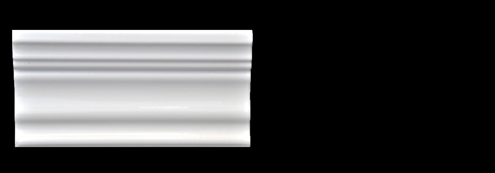 Ceramic Cornice White Polished 10*15 by Milstone