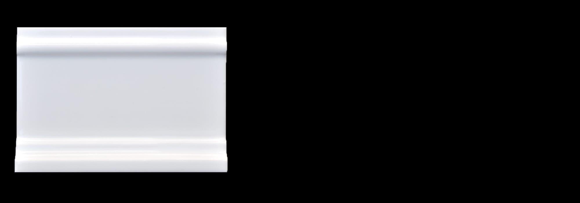 פנל קרמיקה לבן מבריק 7.5*15 by Milstone