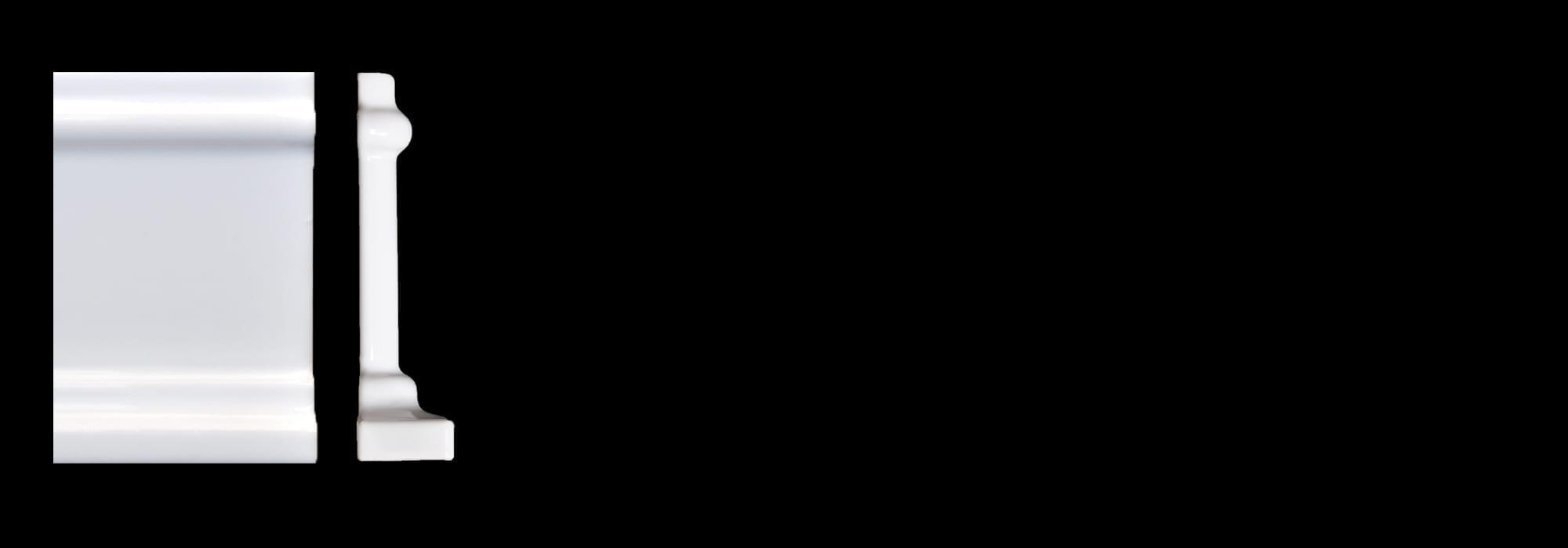 פינה לפנל קרמיקה לבן מבריק 7.5*15 by Milstone