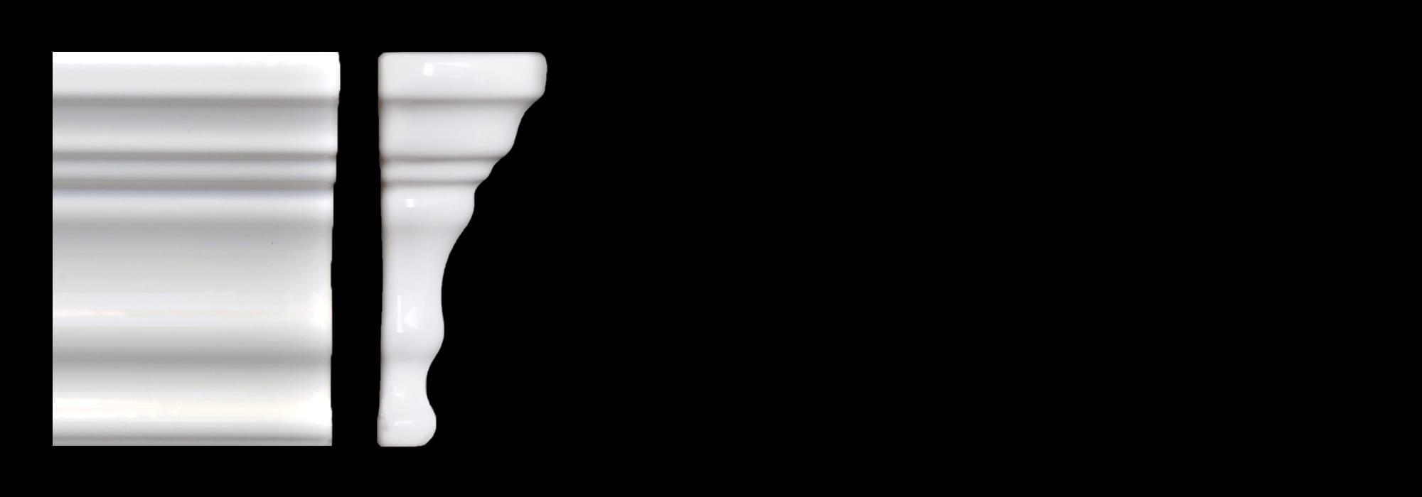 פינה לפנל קרמיקה לבן מבריק 15*10 by Milstone