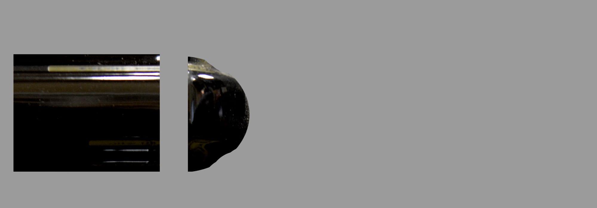פינה קרמיקה שחור מבריק (דגם 7)  30*2.5 by Milstone