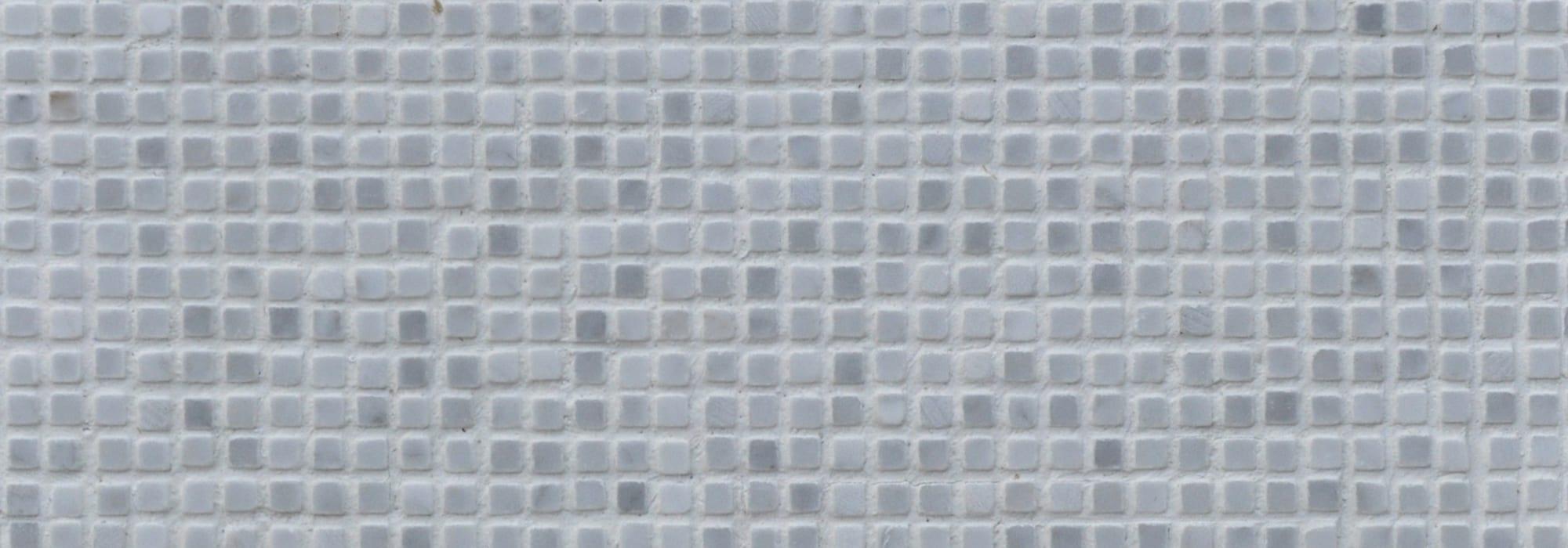 פסיפס אבן קררה מיקרו 0.5*0.5 מלוטש מבריק רשת 25*2 by Milstone