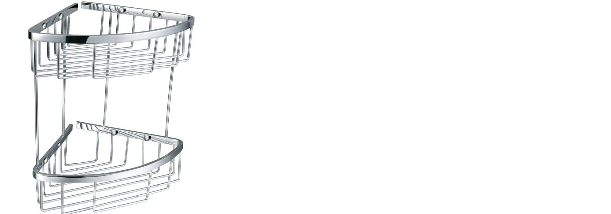 אביזר אמבטיה סל פינתי -מתכת פליז דגם 600 by Milstone