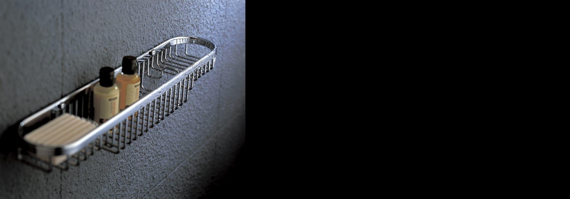אביזר אמבטיה סל מתכת פליז דגם 602 by Milstone