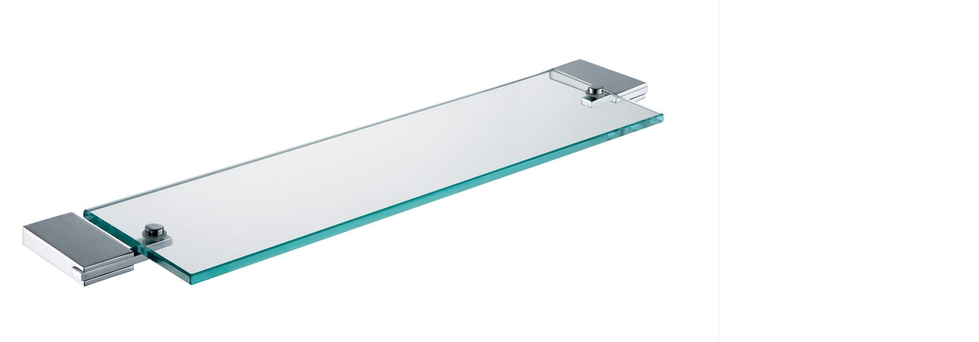 אביזר אמבטיה מדף זכוכית דגם 94007 +4 שייבוט by Milstone