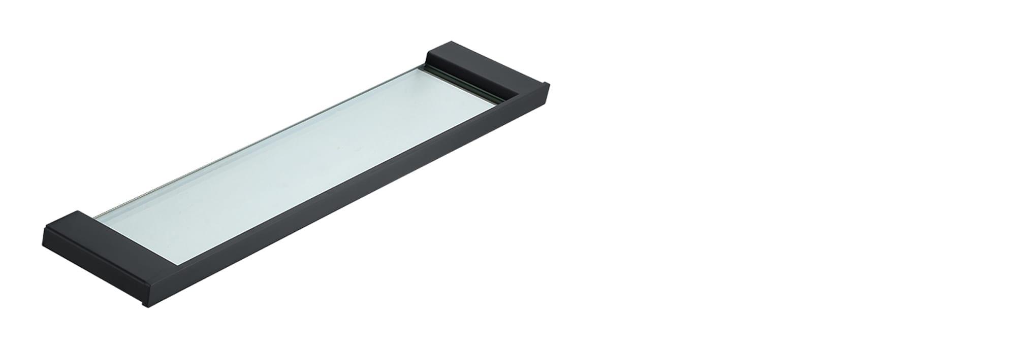 מדף זכוכית מינימל שחור by Milstone