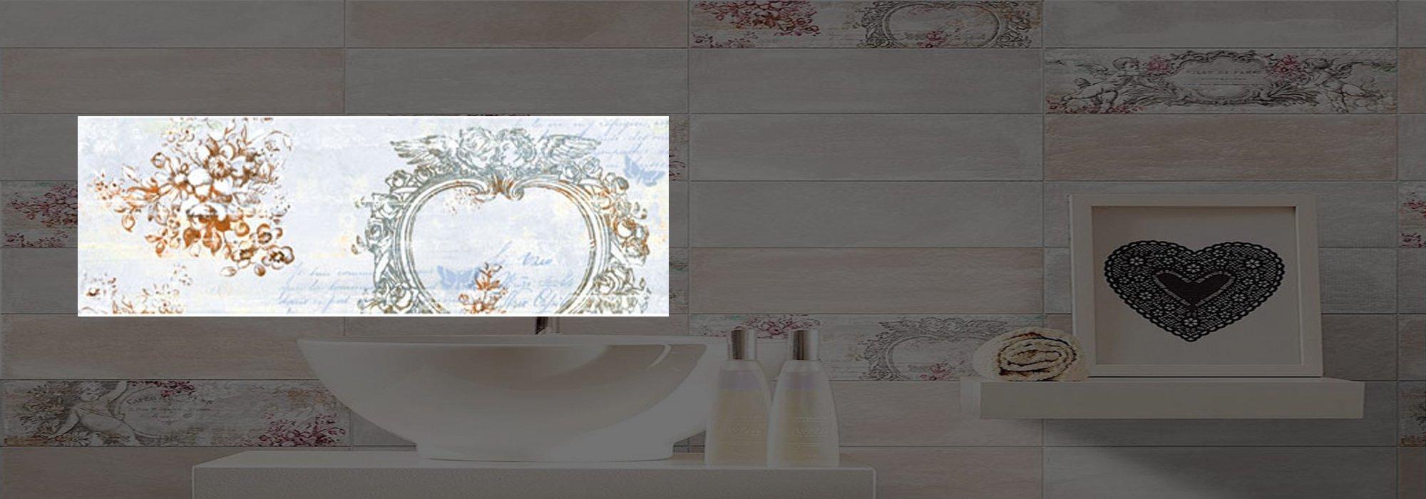 דקור קרמיקה אנטיק כחלחל דגם 02 10*30 by Milstone