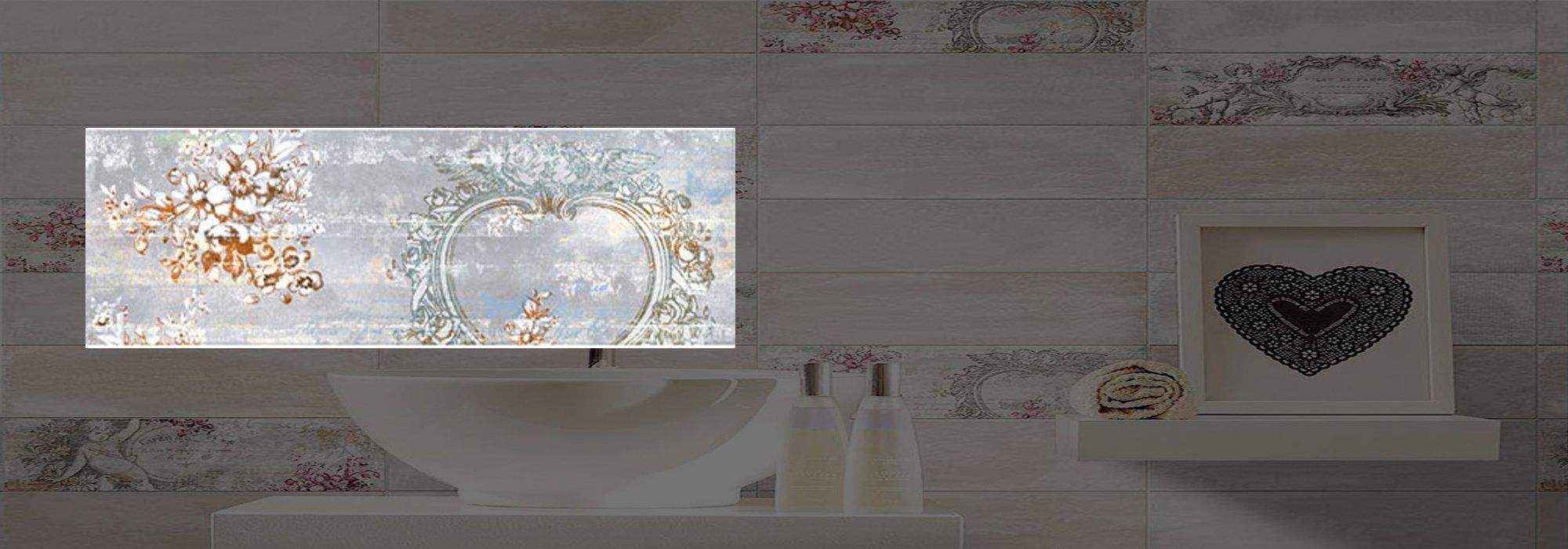 דקור קרמיקה אנטיק אפור דגם 02 10*30 by Milstone