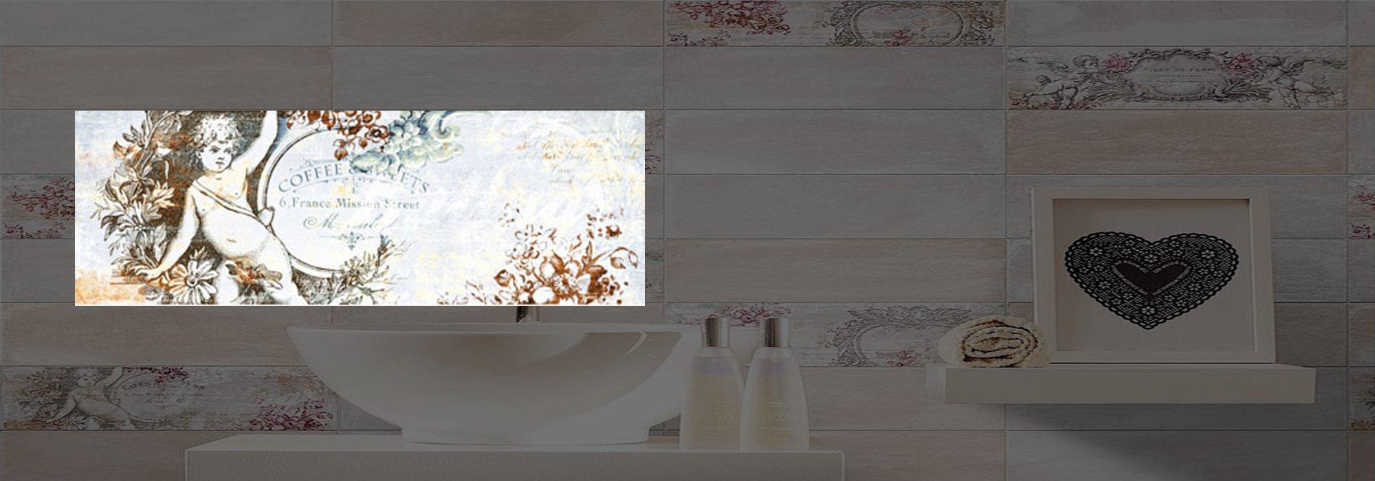 דקור קרמיקה אנטיק כחלחל דגם 03 10*30 by Milstone