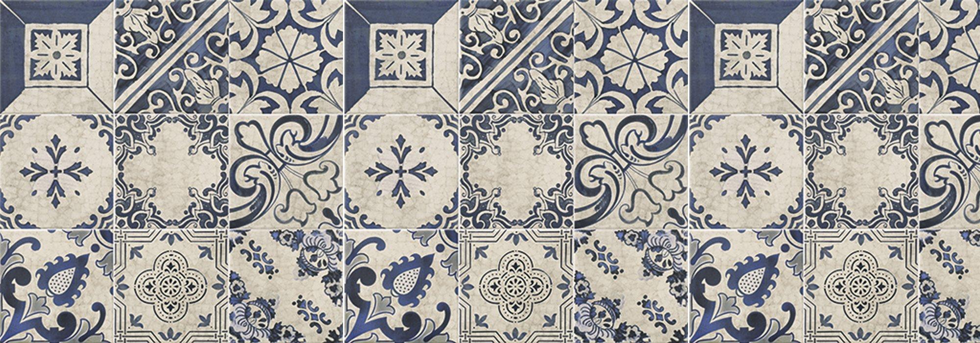 אריח קרמיקה אופורטו כחול 20*20 by Milstone