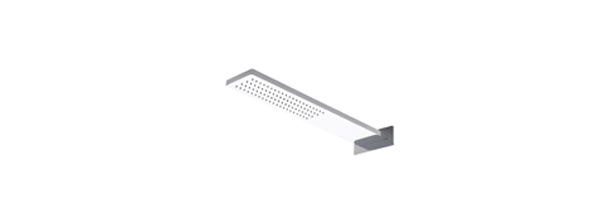 ראש מקלחת מלבני גדול צמוד קיר, כרום – T6.641.01 by Milstone