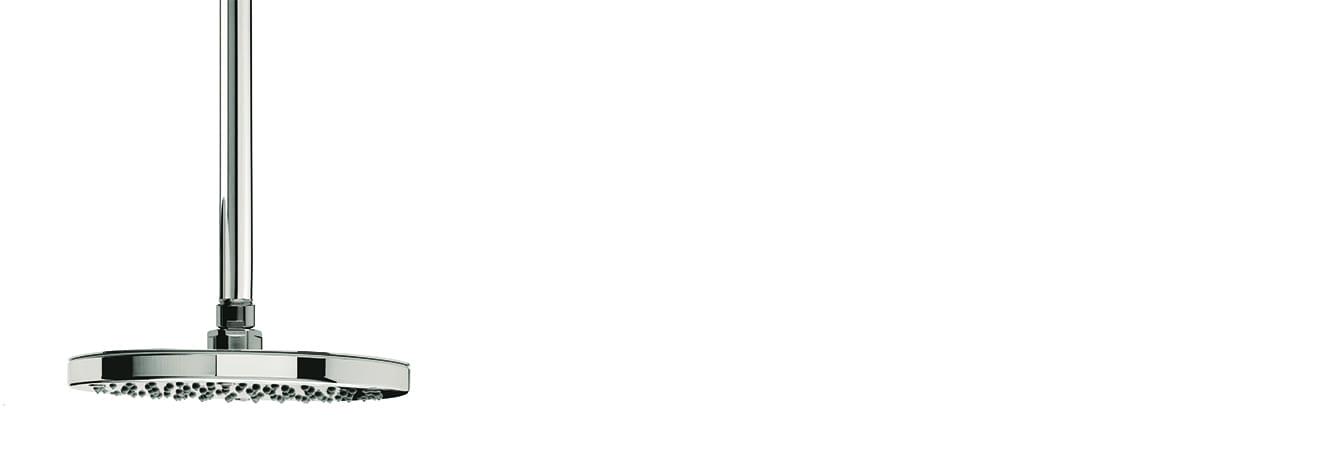 ראש מקלחת עגול + זרוע צמוד תקרה – T1.642.01 by Milstone