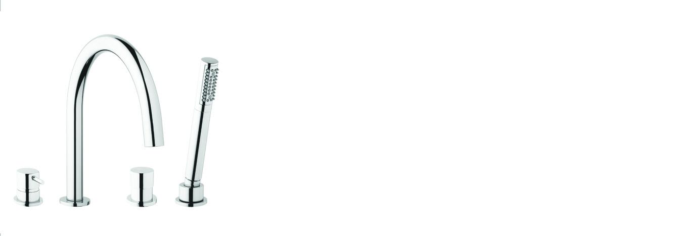 ערכה למילוי אמבט מדופן , כולל:מזלף נשלף ופיה – T1.38.01 by Milstone