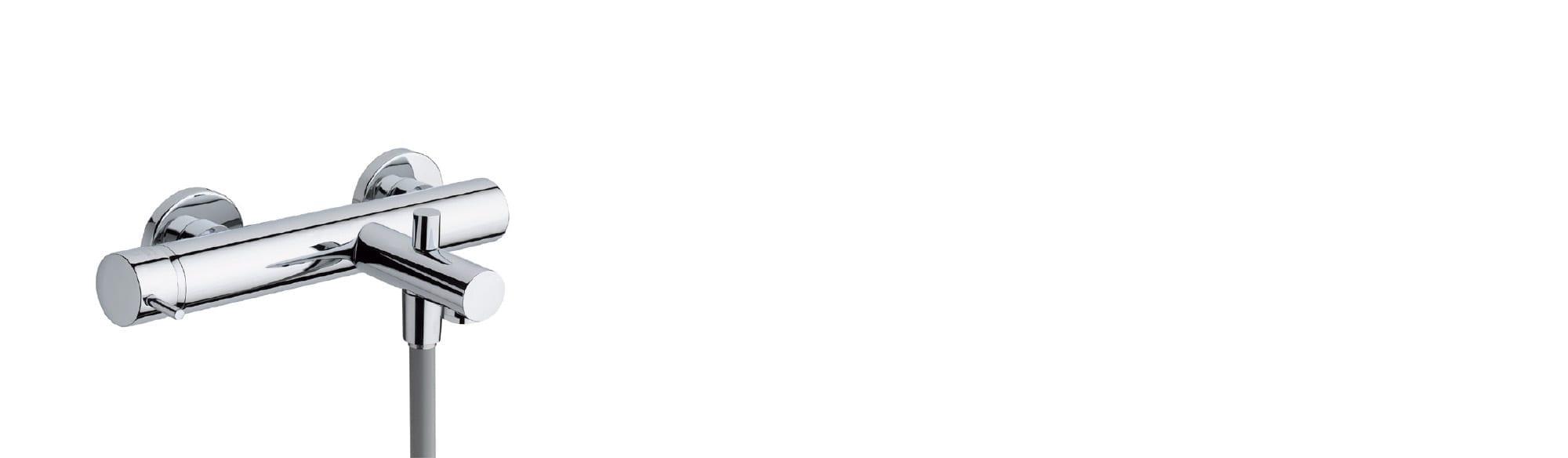 סוללה לאמבט כולל: מזלף ,צינור גמיש ומאחז – T1.30.01 by Milstone