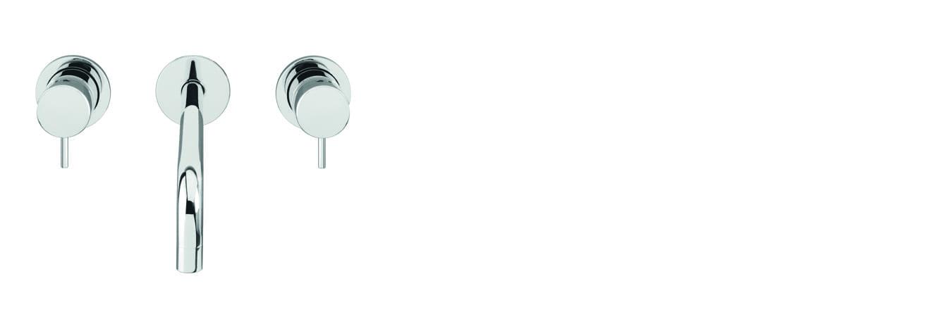 ברז קיר לכיור רחצה ,3 חלקים – T1.16.3F.01.SV by Milstone