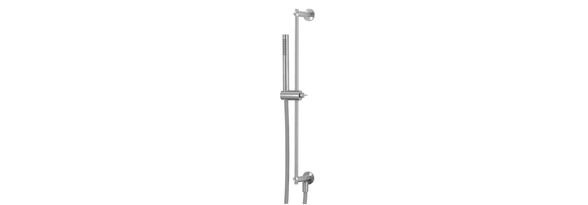 מוט מתכוונן למקלחת כולל : נקודת מים ,מזלף ,צינור ומאחז, נירוסטה – T4.661.IE by Milstone