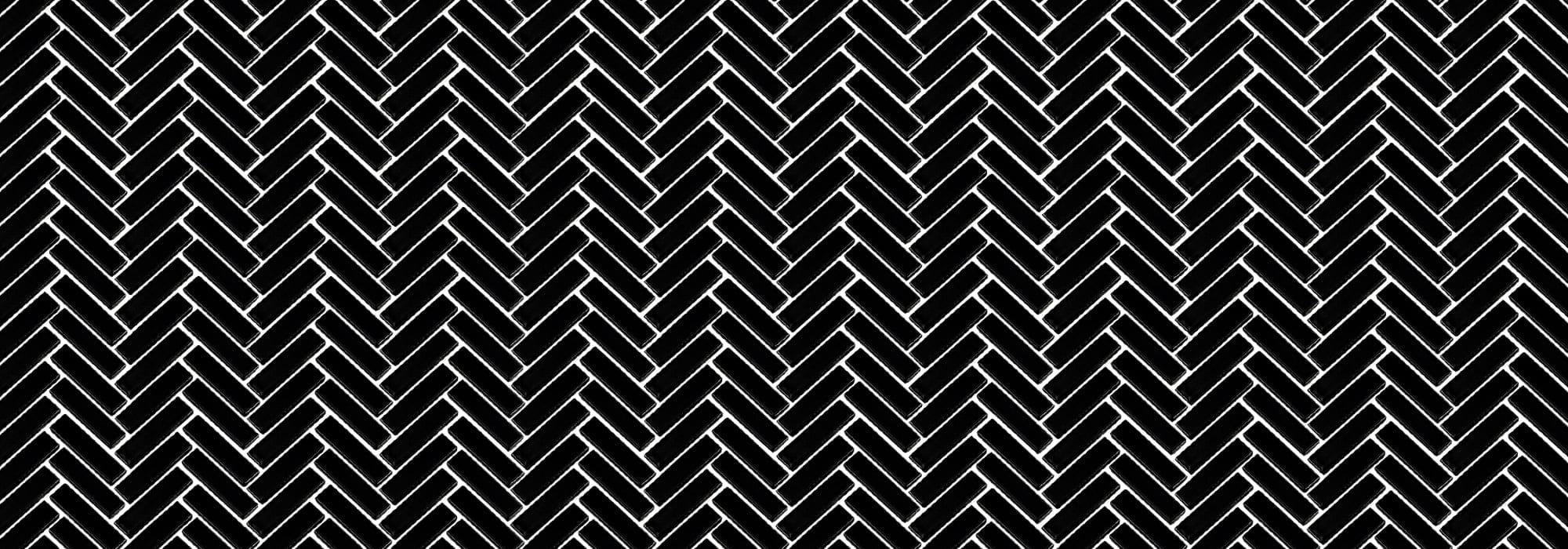 פסיפס פורצלן הרינגבון שחור מבריק 0.6*4.8*1.2 (27.7*28.3) by Milstone