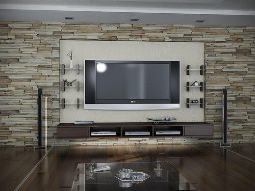 חיפוי עץ בסלון